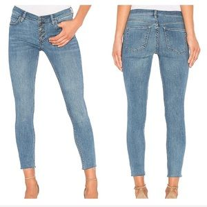 Free People Reagan Button Front Jean in Sky 28